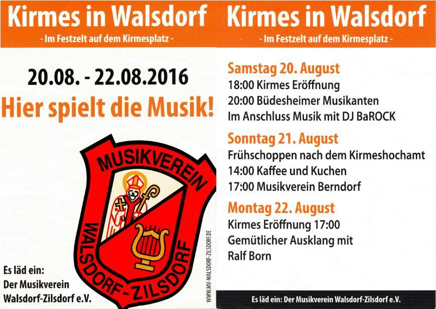 Kirmes in Walsdorf 20. - 22.08.2016