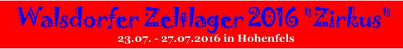 Banner Zeltlager 2016